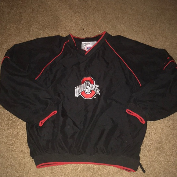VINTAGE TEAM NIKE OHIO STATE PULLOVER WINDBREAKER JACKET MEN'S SIZE SMALL!!!